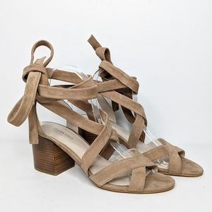 Kenneth Cole NY Victoria lace up heeled sandal 9